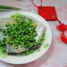 豌豆蒸带鱼