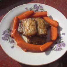 胡萝卜烧带鱼