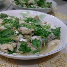 香菜豆酱带鱼