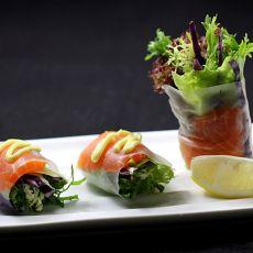 三文鱼蔬菜卷