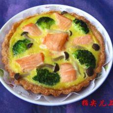鲑鱼西兰花蛋奶糕