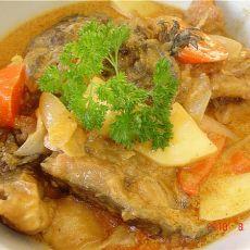 咖喱三文鱼头