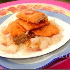 洋葱香煎三文鱼