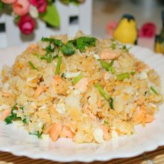 三文鱼蛋白炒饭