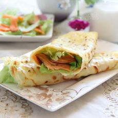三文鱼杂粮煎饼