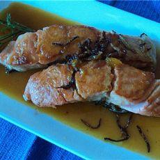 橙汁三文鱼