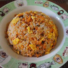 三文鱼炒蛋饭