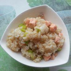 三文鱼芦笋炒饭