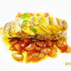 煎三文鱼土豆