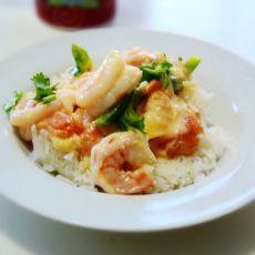 泰式椰汁海鲜盖饭