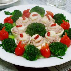 虾仁镶鸡蛋—云中仙岛的做法