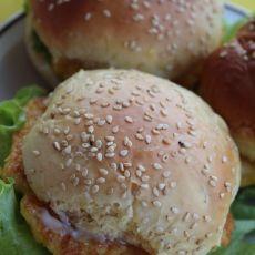 鲜虾汉堡的做法