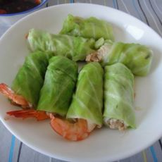 翡翠鲜虾豆腐卷