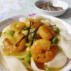 咖喱虾仁意面