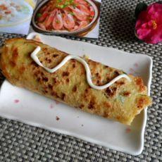 虾仁香菜煎饼