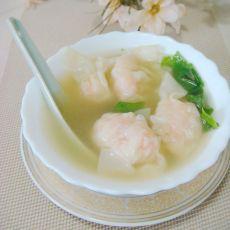 鲜虾馄饨汤