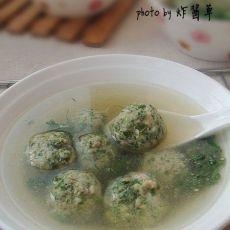 荠菜肉丸汤的做法