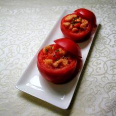 番茄虾仁盏