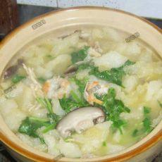 鱼肚虾仁鸡汤砂锅