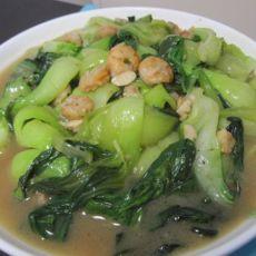 蒜香虾仁油菜