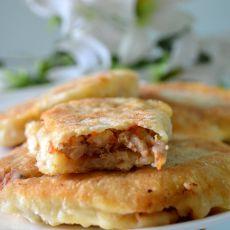 香菇猪肉虾仁馅饼