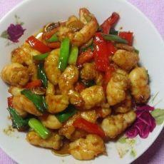姜葱炒虾仁