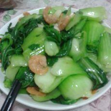 小油菜炒虾仁