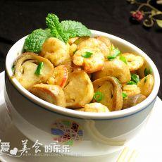 草菇炒虾仁