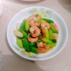 蒜苗炒虾仁