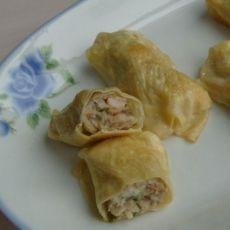 虾仁豆皮卷