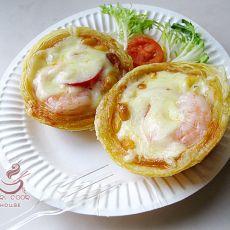 虾仁番茄玉米披萨挞