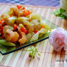 玻璃虾仁芹菜