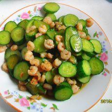 黄瓜炒虾仁
