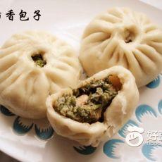 鲜虾茴香肉包
