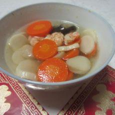 杏鲍菇虾仁汤