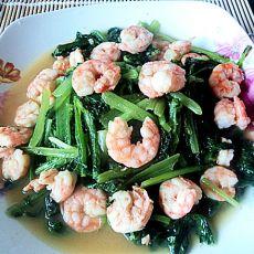 小白菜炒虾仁的做法