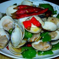 青椒炒文蛤