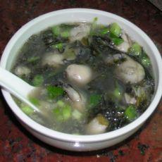 紫菜生蚝豆腐汤