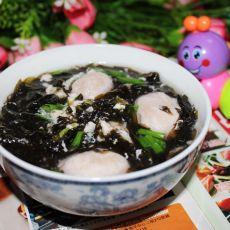 肉丸紫菜蛋花汤