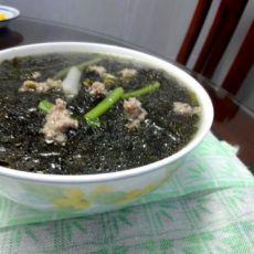 油爆紫菜汤