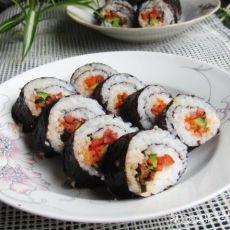 辣白菜紫菜卷饭