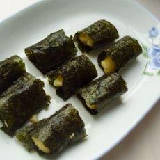蛋香山药紫菜卷