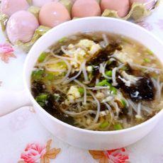 金针菇紫菜蛋汤