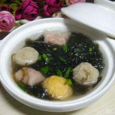 紫菜丸子汤的做法