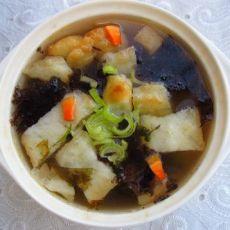 紫菜油条汤的做法