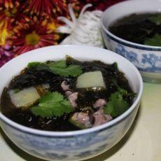 土豆紫菜肉片汤的做法