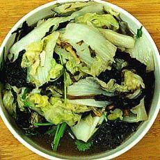 紫菜炒白菜