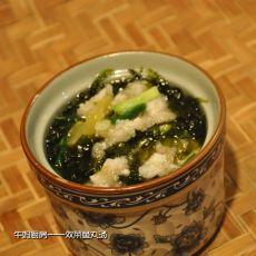 双菜鱼丸汤