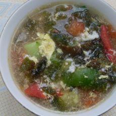 【原创菜谱】紫菜蛋花柿子汤的做法