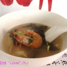 鲜虾紫菜汤